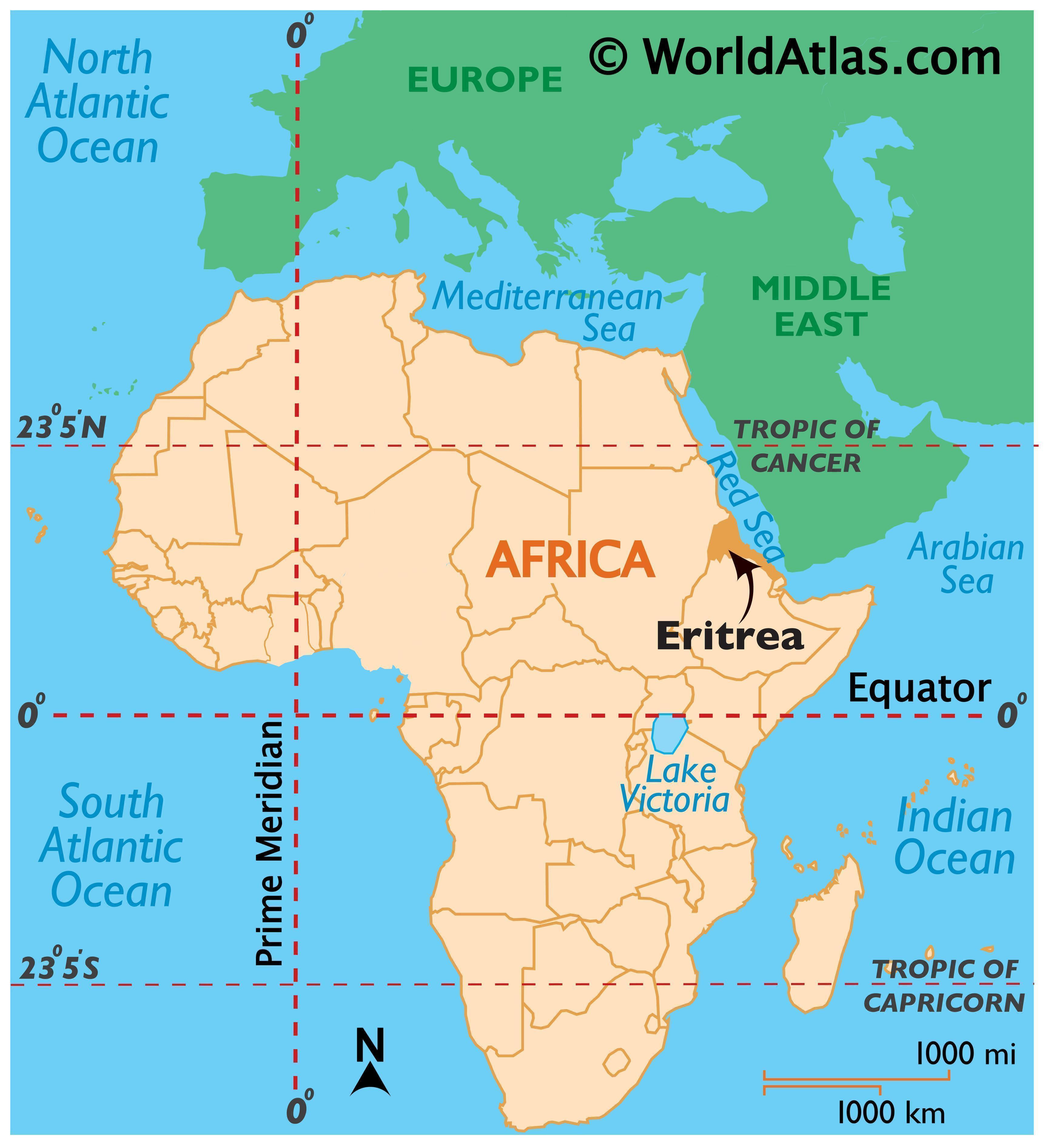 Map Of Eritrea In Africa | Map Of Africa