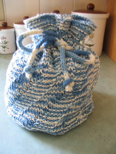 spiral rib drawstring bag