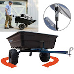 Oxcart 12 CuFt Hydraulic Lift-Assist and Swivel Dump Cart with Run-Flat Tires