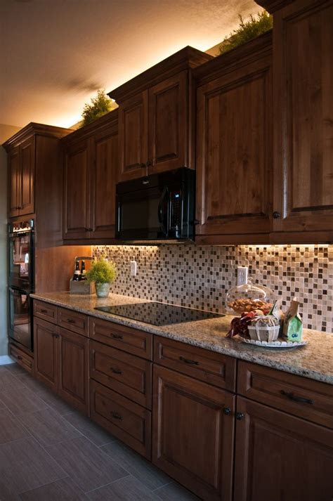 inspired led lighting  traditional style kitchen warm