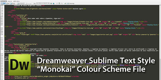 Dark Code View Theme Color Scheme For Dreamweaver CS3+ – Sublime Text Skin
