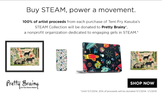 Artists Collaborate to Benefit Girls in STEAM - Pretty Brainy