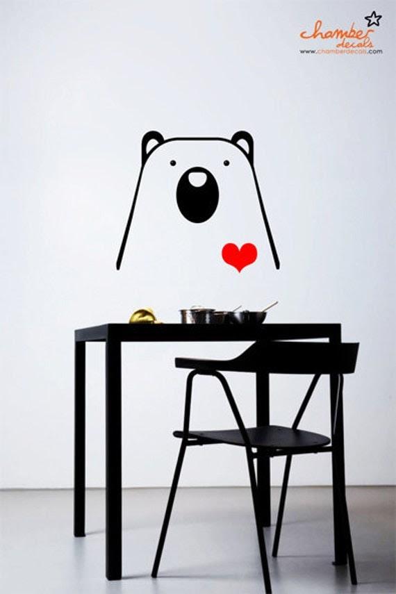 Cute Bear Wall Decal