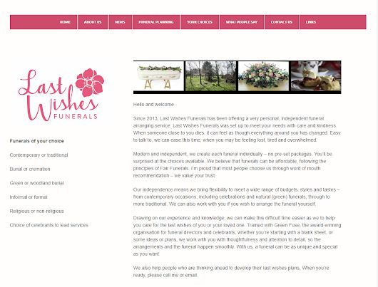 Last Wishes Website Redesign | Richard Flint Photography