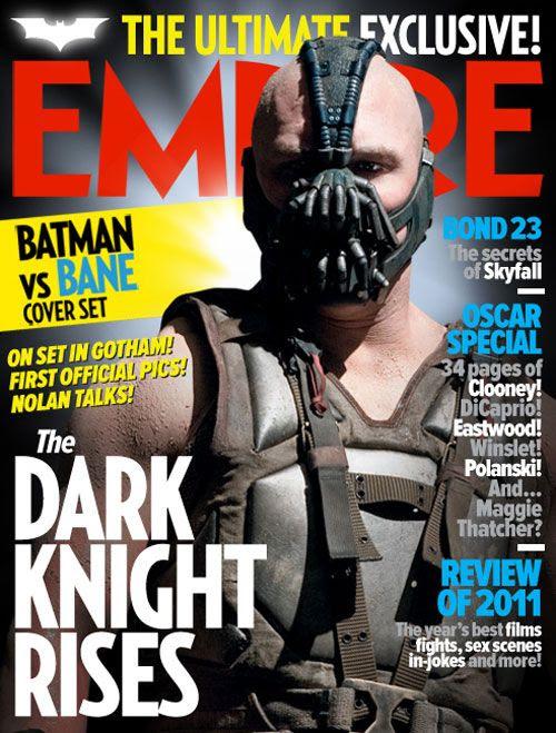 The Bane cover of Empire's THE DARK KNIGHT RISES magazine issue.