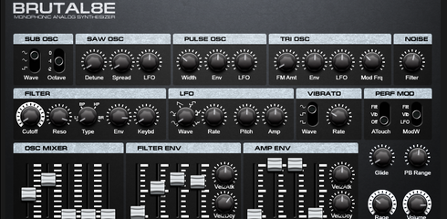 BRUTAL8E Monophonic Analog Synthesizer | Reaktor User Library : Entry | Reaktor Community