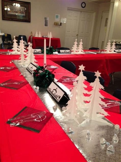 Church Banquet decorations   Table Scapes   Christmas