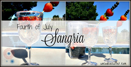 Sangria in Red, White and Blue - You Link It, We Make It #20 - Uncookie Cutter