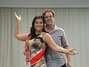 Lígia Alvarez e o diretor do concurso, Adilton Amaral Foto: Giovanne Casareggio / Divulgação