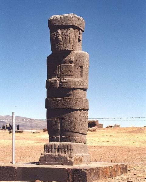 Monolito Ponce, Tiahuanaco, Bolivia.
