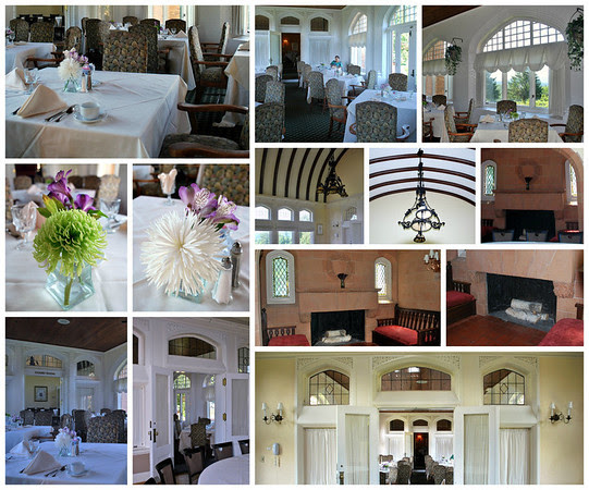Collage of Conference Room and Sun Room Dining Room at the Mansion of the Cranwell Resort, Spa, and Golf Club