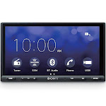 Sony 6.95 Inch 55W CarPlay/Android Double DIN Auto Media Receiver with Bluetooth by VM Express