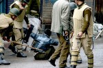 Pic-04 Kashmiri protester being beaten by Indian security fo