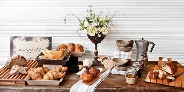 french breakfast table setting buffet decorating ideas