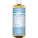 Dr. Bronner - Baby-Mild Pure Castille Soap - Made with Organic Oils - Unscented (32 Fluid Ounces) - Body Wash