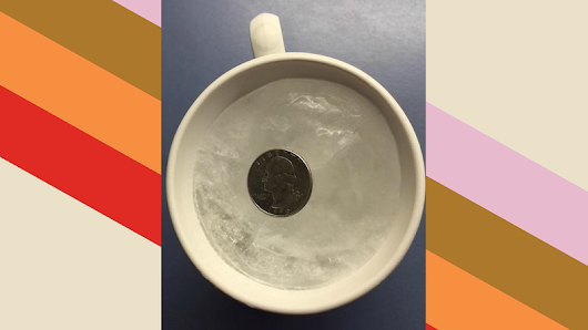 Leave a Coin on a Cup of Ice Before Leaving Home to See If the Power Went out While You Were Away