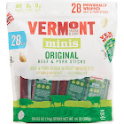 Vermont Smoke & Cure Minis Beef & Pork Snack, Original - 28 pack, 0.5 oz sticks