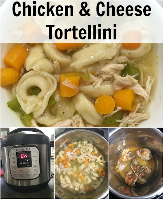 Instant Pot Chicken & Cheese Tortellini Soup - It's Peachy Keen