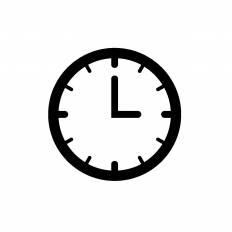 3時シルエット イラストの無料ダウンロードサイトシルエットac
