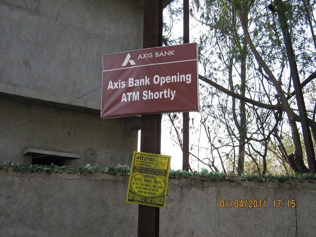 Oh! Axix Bank to open ATM at Supreme Industries, near Dajikaka Gadgil Developers' Anant Srishti at Kanhe, near Talegaon, Pune