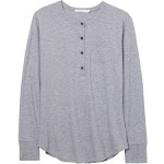 Alternative Donna Organic Pima Cotton Henley Shirt XL Dublin Grey Heather , Alternative Apparel