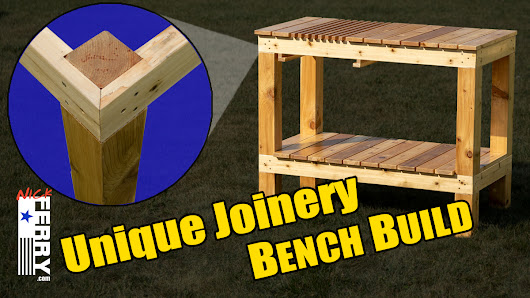 » Workbench Build / Potting Bench – with Unique Joinery (ep89)
