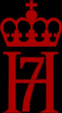 Hans Majestet Haakon VII af Guds Naade og efter Rigets Constitution Konge over Norge: monogram