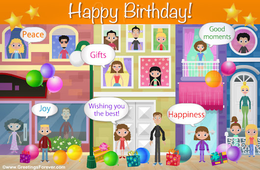 Happiness and good moments, Happy Birthday, ecards