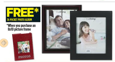 Dollar General Free 36 Pocket Photo Album With 8x10 Frame Purchase