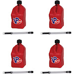 VP Racing 5-Gallon Motorsport Racing Fuel Container & 14-Inch Hose (4 Pack) by VM Express