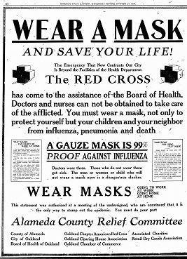 Wear a mask - spanish flu pandemic, 1918