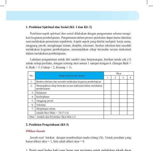 Kunci Jawaban Buku Pjok Kelas 8 Bab 6 Kanal Jabar