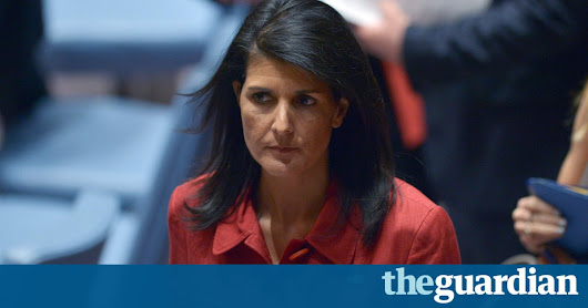 No peace in Syria until Assad is ousted, says Nikki Haley | World news | The Guardian
