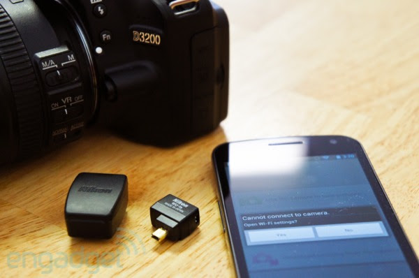DNP Nikon WU1a wireless mobile adapter for D3200 review using Android as a remote trigger  wireless display