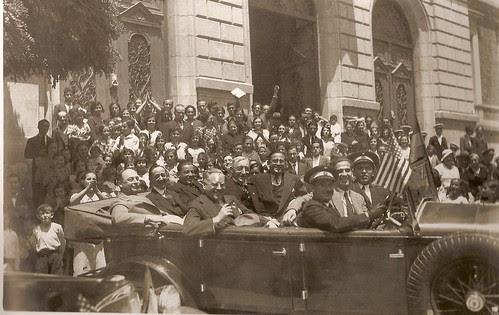 Charles Hoover, alcalde de Toledo de Ohio en 1934 visita Toledo  (Fotografía Rodríguez)