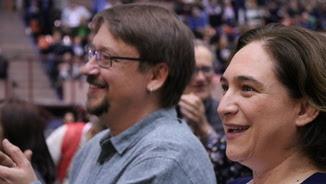 Ada Colau i Xavier Domènech en l'assemblea dels comuns per fundar el nou partit (ACN)