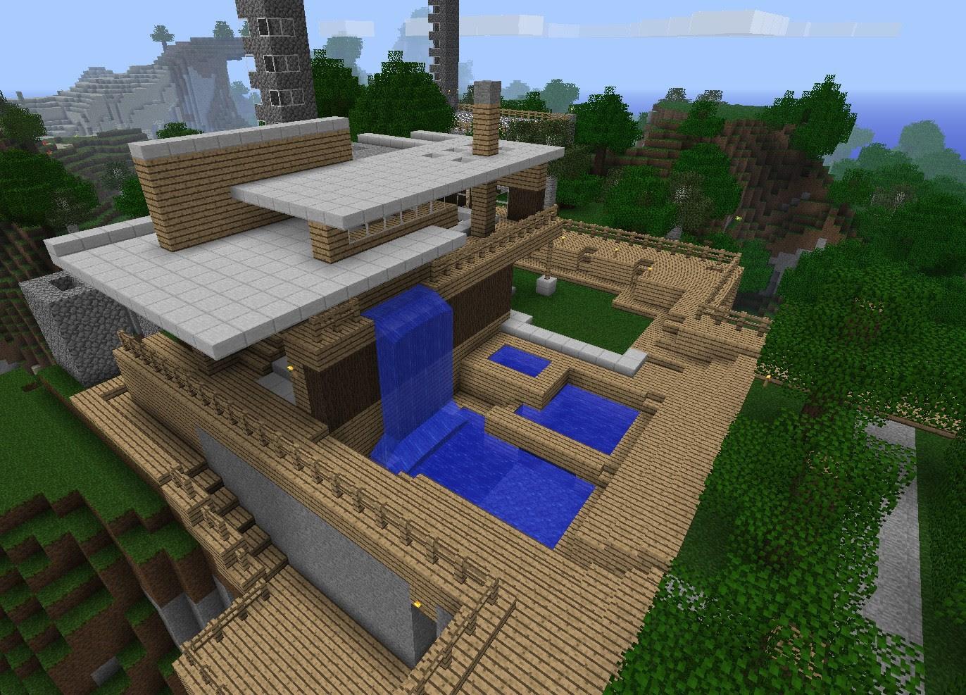 Minecraft House Designs Survival Rumah Joglo Limasan Work