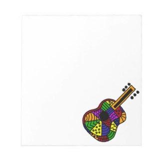 UV- Colorful Folk Art Guitar Design