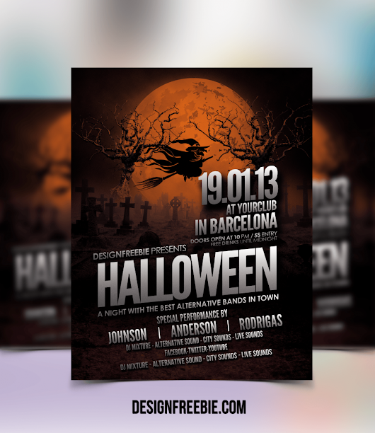 Free Halloween Party Flyer Template Download