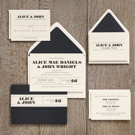 Ticket Wedding Invitation Suite I created for Paper Source