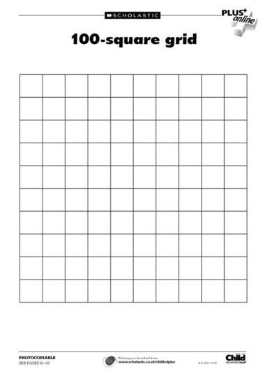 Number Names Worksheets : 100 square printable ~ Free Printable ...