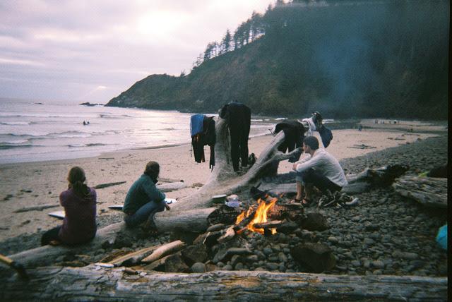 winterfellis:  Evening Fire - Indian Beach, Oregon by M!CHAEL G. on Flickr.