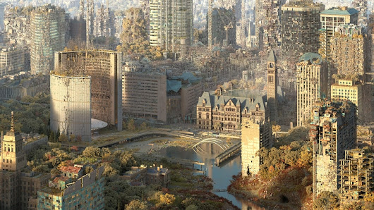 Alternate Toronto: Artist creates images of city in decaying, dream-like future