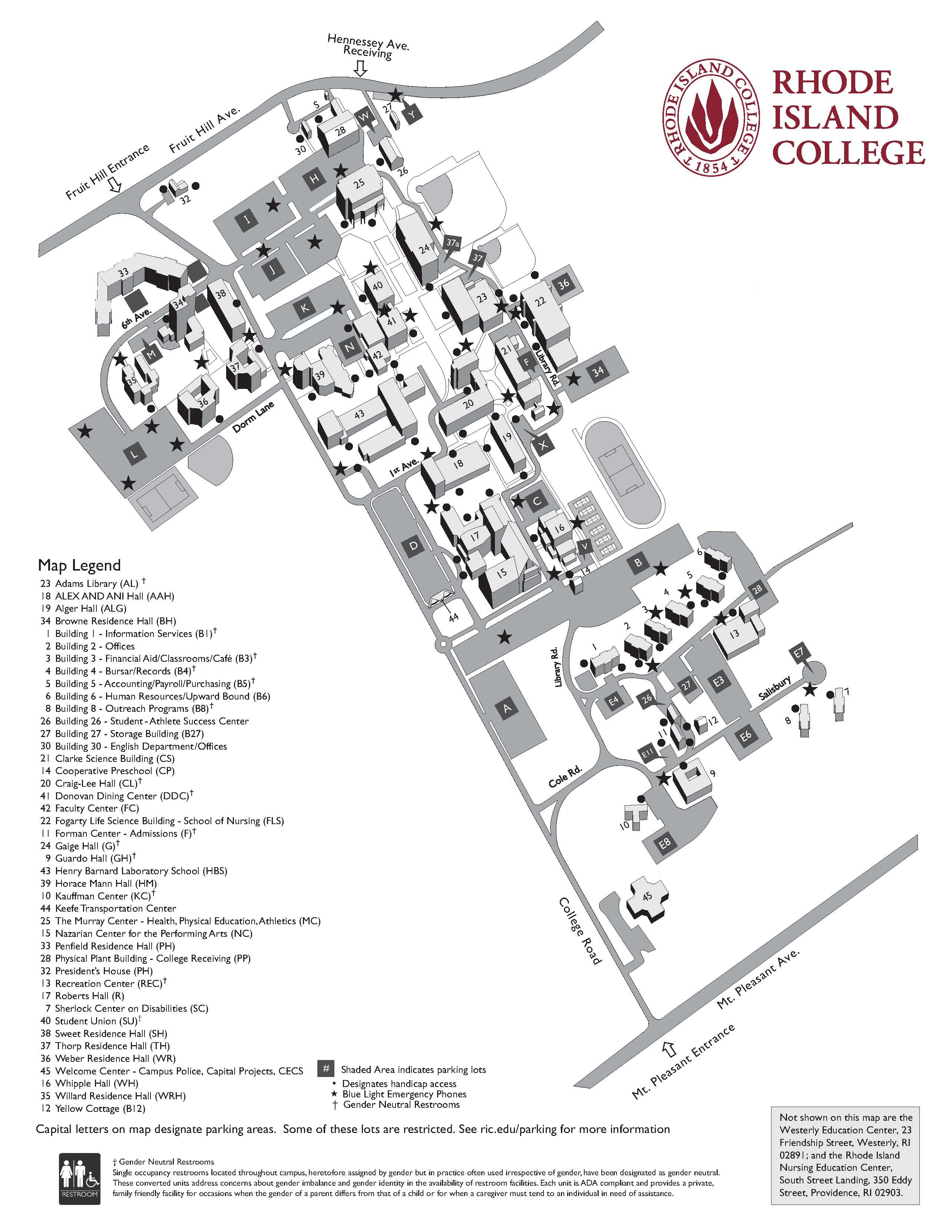 Rhode Island College Campus Map Ric Campus Map | Gadgets 2018