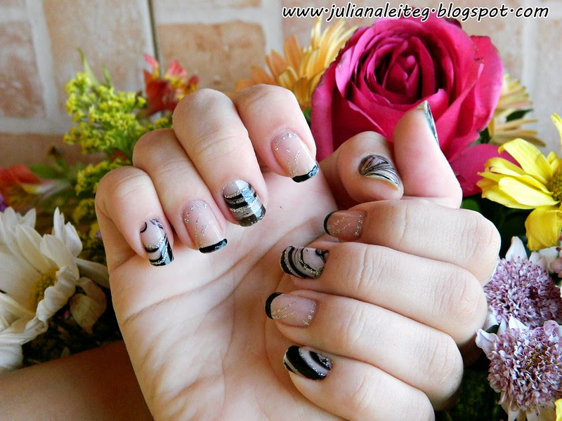 unhas da semana tecnica da água watter nail art unhas decoradas juliana leite