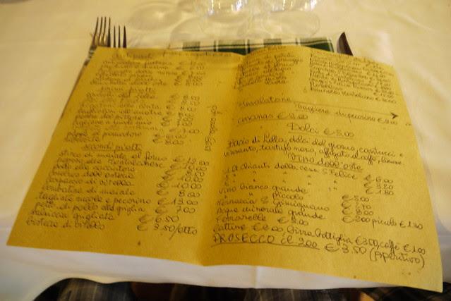 全義大利文菜單
