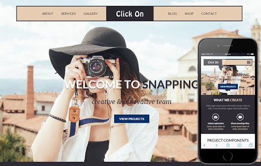 Click On a Photographer Portfolio Flat Bootstrap Responsive Web Template by W3layouts