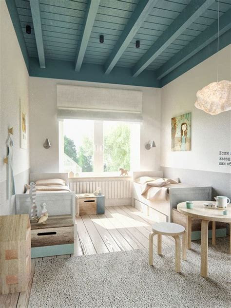 simple soft  natural kids rooms mommo design