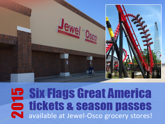 2015 Six Flags Great America Tickets at Jewel Osco