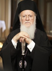 H.A.H. Patriarch Bartholomew of Constantinople, Archbishop of New Rome, and primus inter pares among the Eastern Orthodox hierarchs
